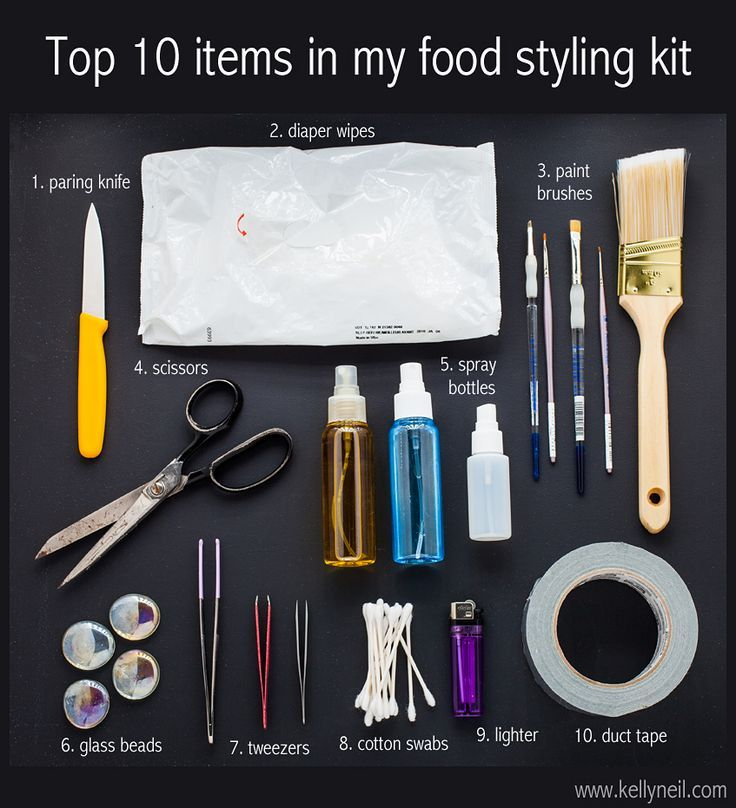 Top 10 Items In My Food Styling Kit