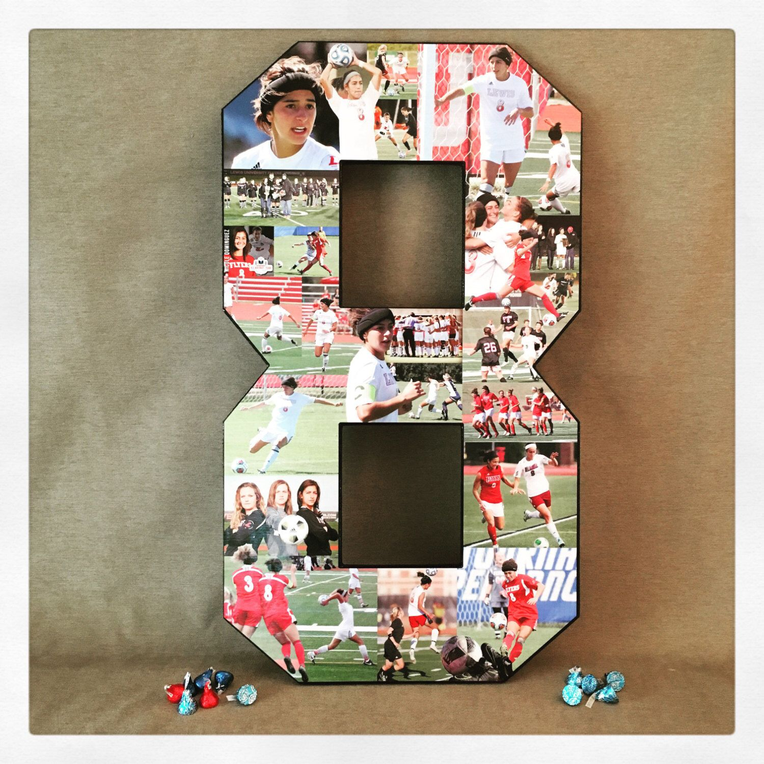 Soccer Collage Sports Collage Great Senior Night Gift Idea Photo Collage On Wooden Number Birthday Collage Surprise Birthday Decorations Graduation Collage