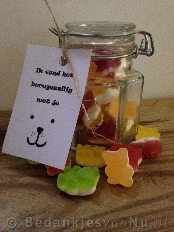 Ik vond het beregezellig met je, leuke traktatie of als bedankje via www.BedankjesvanNu.nl