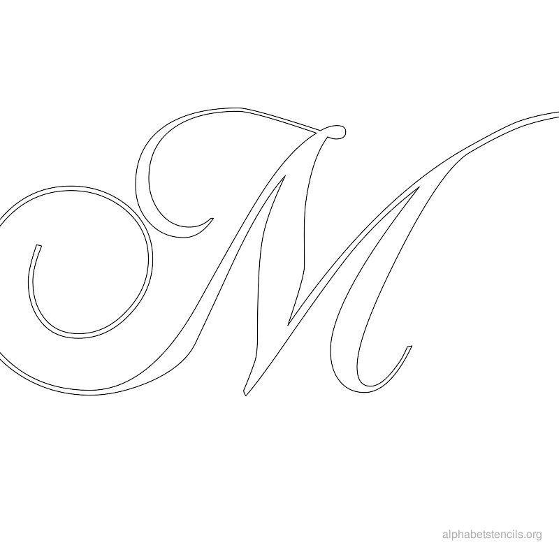Assez Imprimer Alphabet gratuit Pochoirs Calligraphie M | alphabets et  QL46