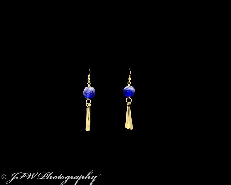 Handmade African Jewelry #unique #cultural #earrings #pretty #drop #blue #fashion #style #photography #love #jfwphotography
