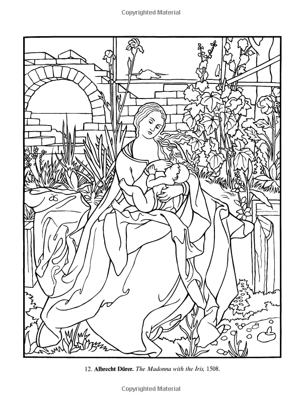 Art Masterpieces To Color 60 Great Paintings From Botticelli To Picasso Dover Art Coloring Book Marty Famous Art Coloring Coloring Book Art Coloring Books