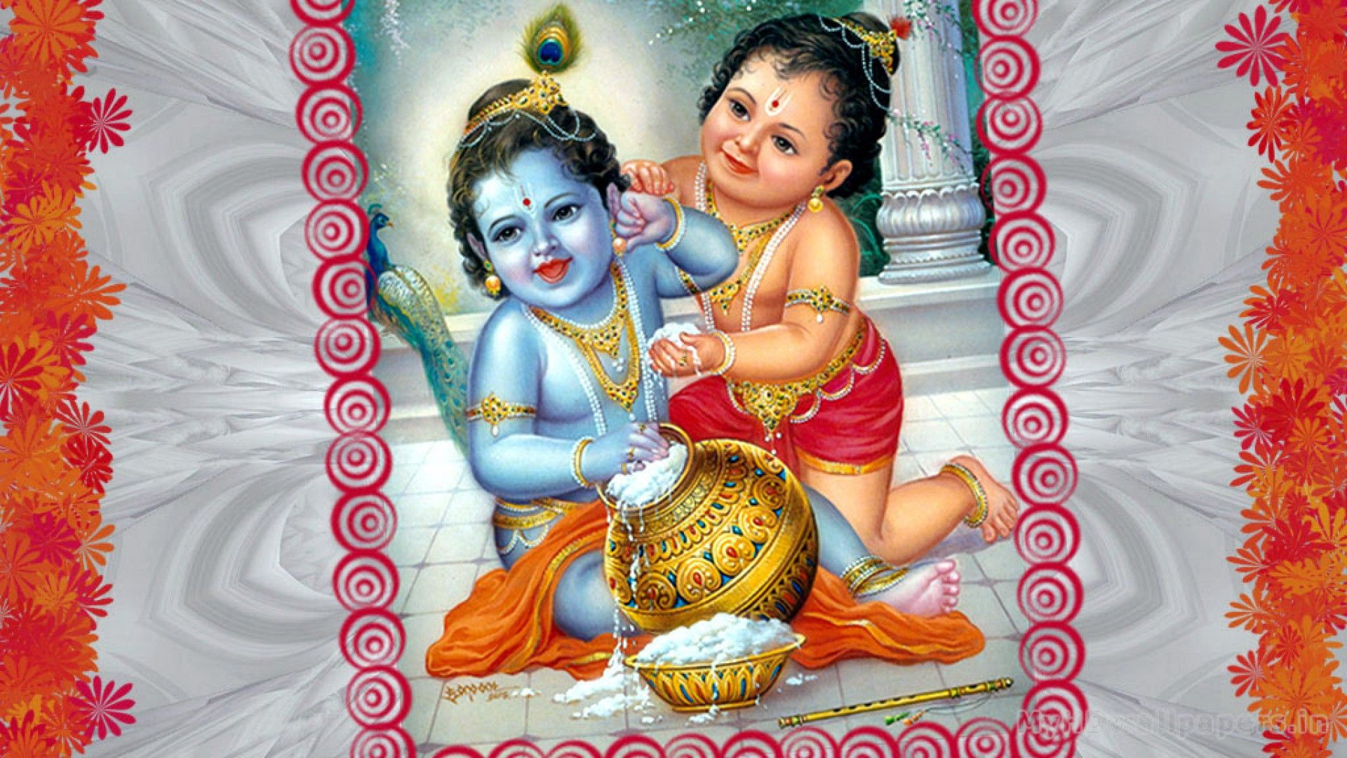 Click Here To Download In Hd Format Lord Krishna And Balram Wallpaper Http Www Superwallpapers I Lord Krishna Wallpapers Bal Krishna Lord Krishna