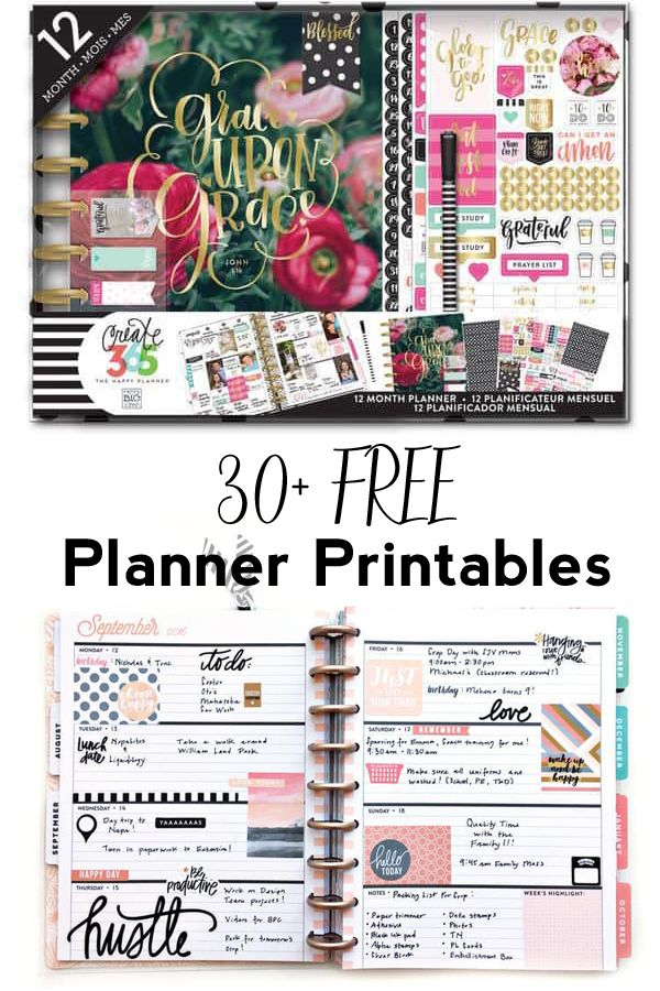 Weekly Planner Printables Free for Your Happy Planner is part of Weekly Planner Organization - Free weekly planner printables to help you stay organized in the prettiest way possible! The Happy Planner is the perfect way to get and stay organized in the New Year  These weekly planner printa…
