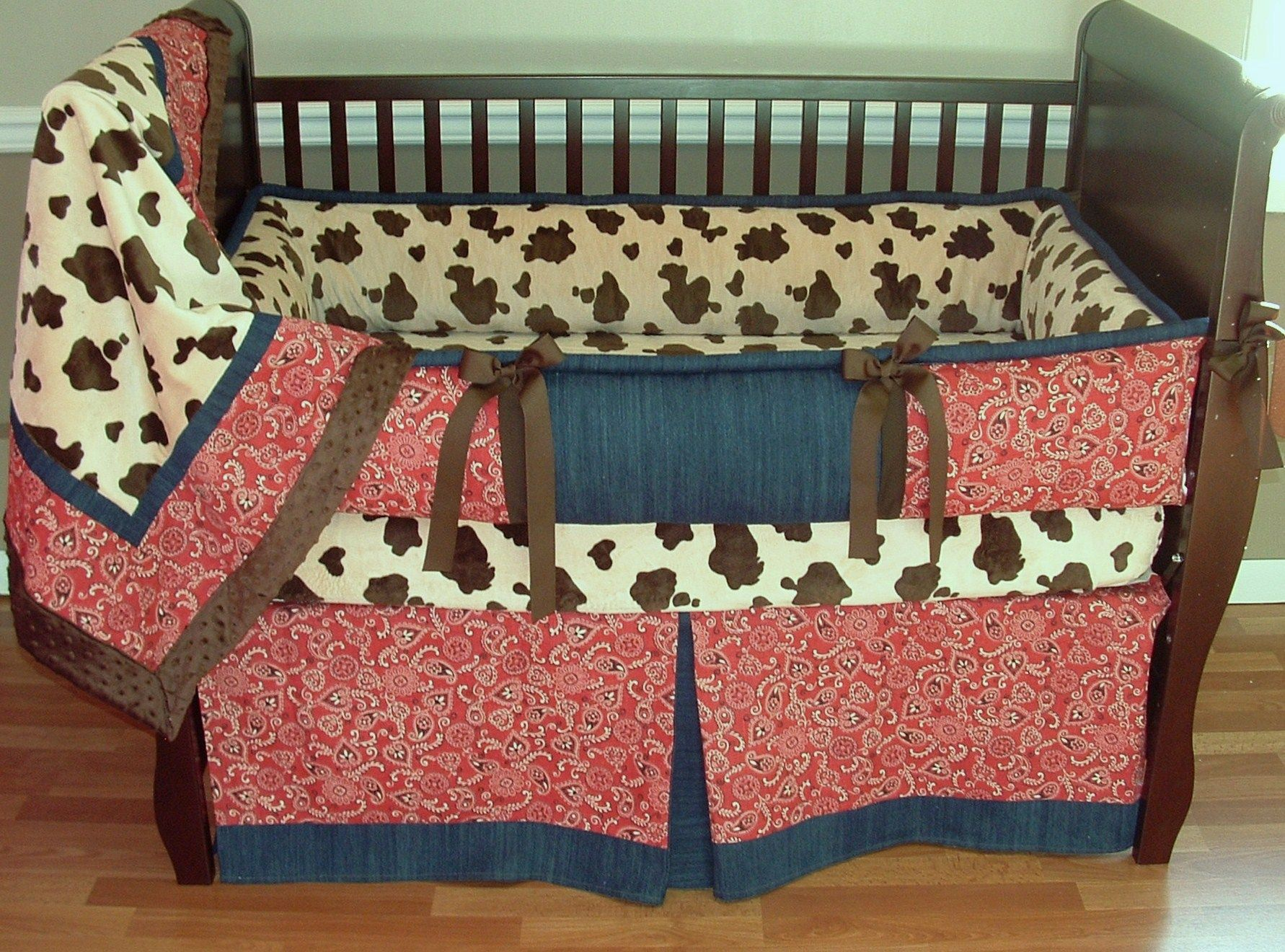 Giddy Up Cowboy Baby Bedding This Set Includes The Per Blanket And Skirt Sheet May Be Subsuted For Or Added To