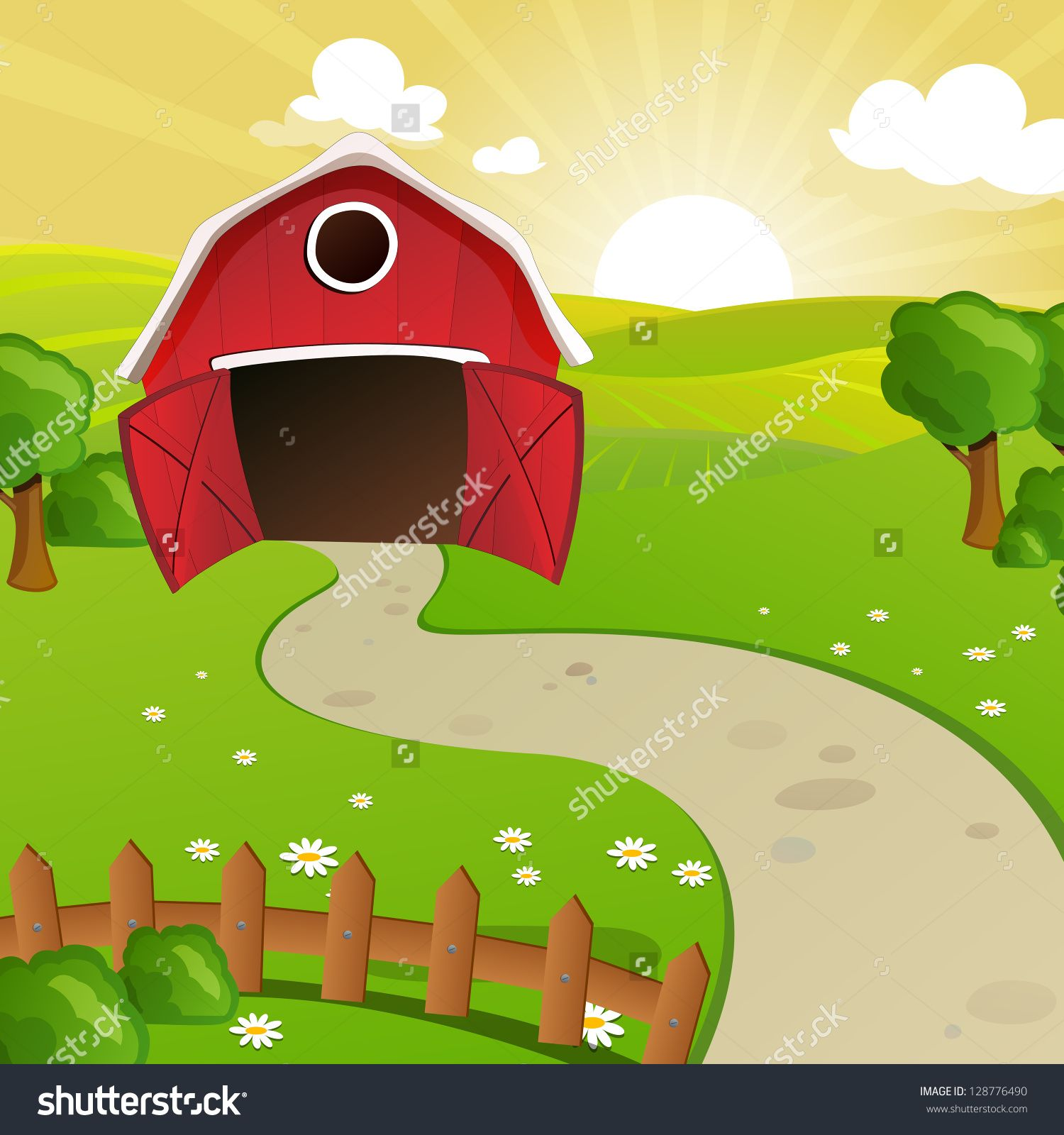 Farm Cartoon Stock Photos, Images, & Pictures | Shutterstock | Farm ...