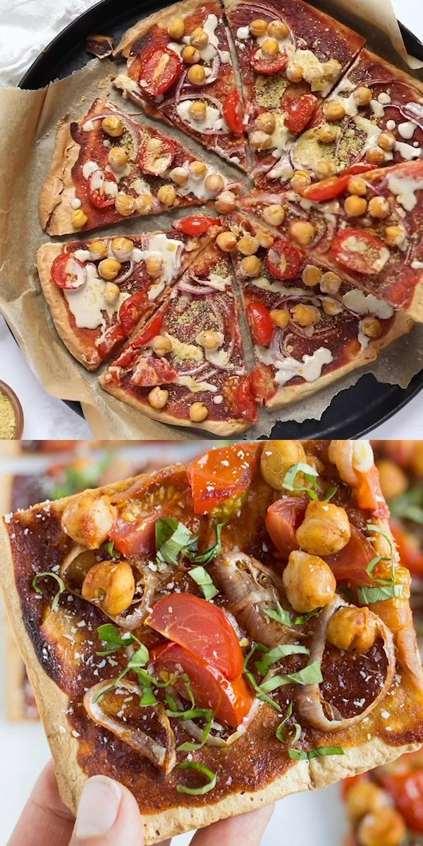 Vegane BBQ Pizza mit Quinoa Crust   – QUINOA DINNER RECIPES