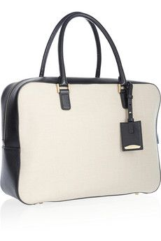 Leather-trimmed canvas tote Jil Sander 4xroOtS