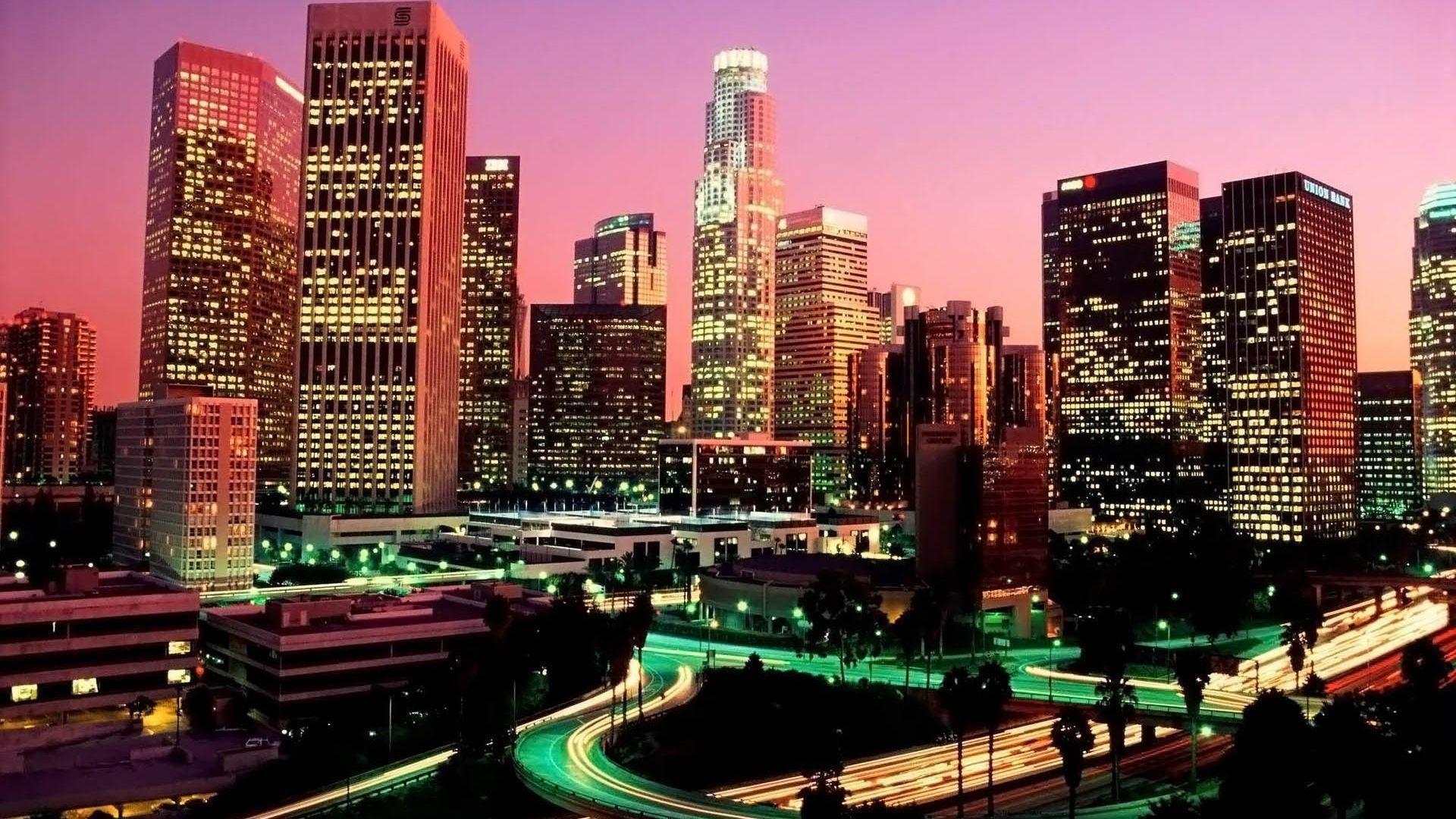 Full Hd 1080p Los Angeles Wallpapers Hd Desktop Backgrounds Los Angeles Skyline Los Angeles Wallpaper California City
