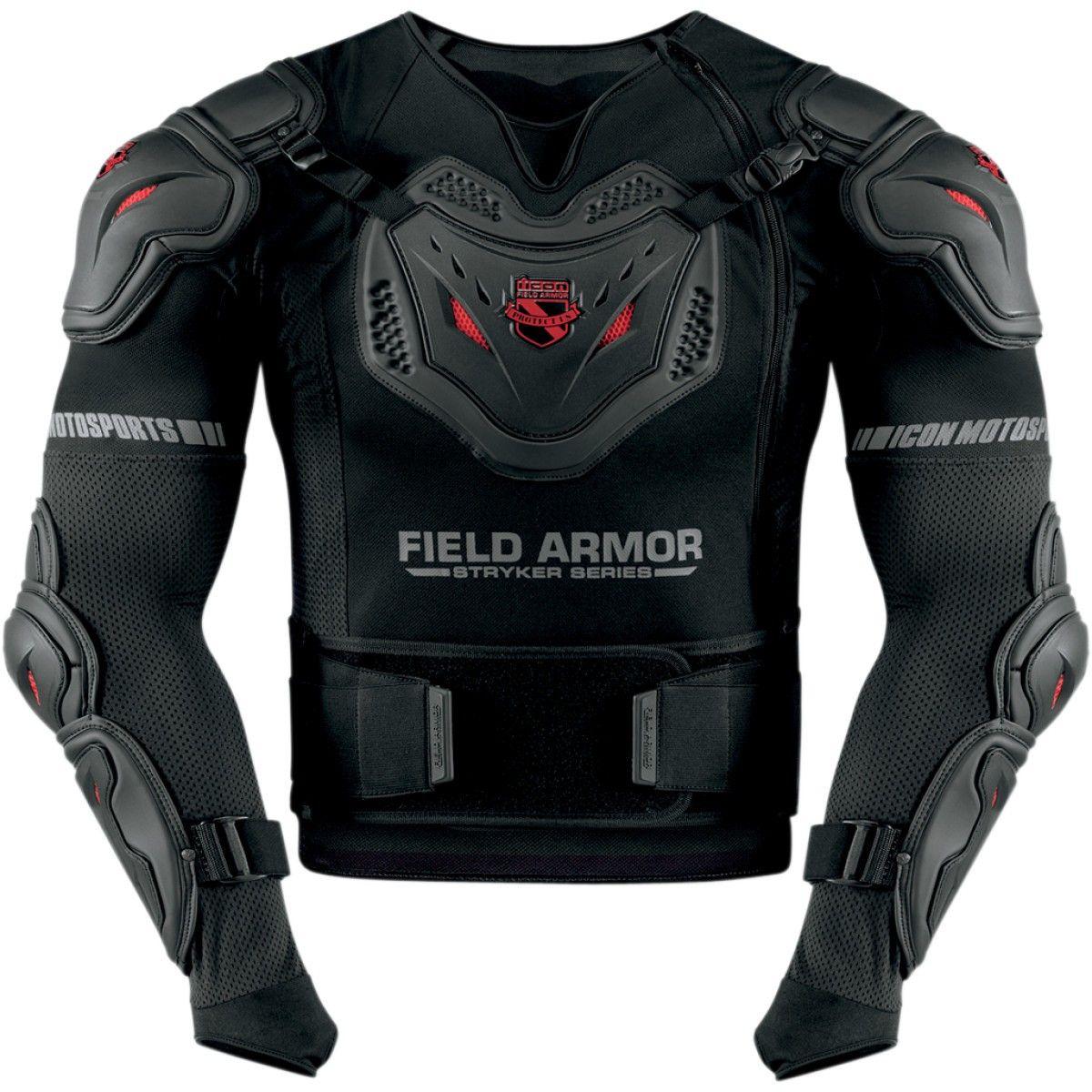 Icon Stryker Rig Body armor, Black motorcycle, Armor