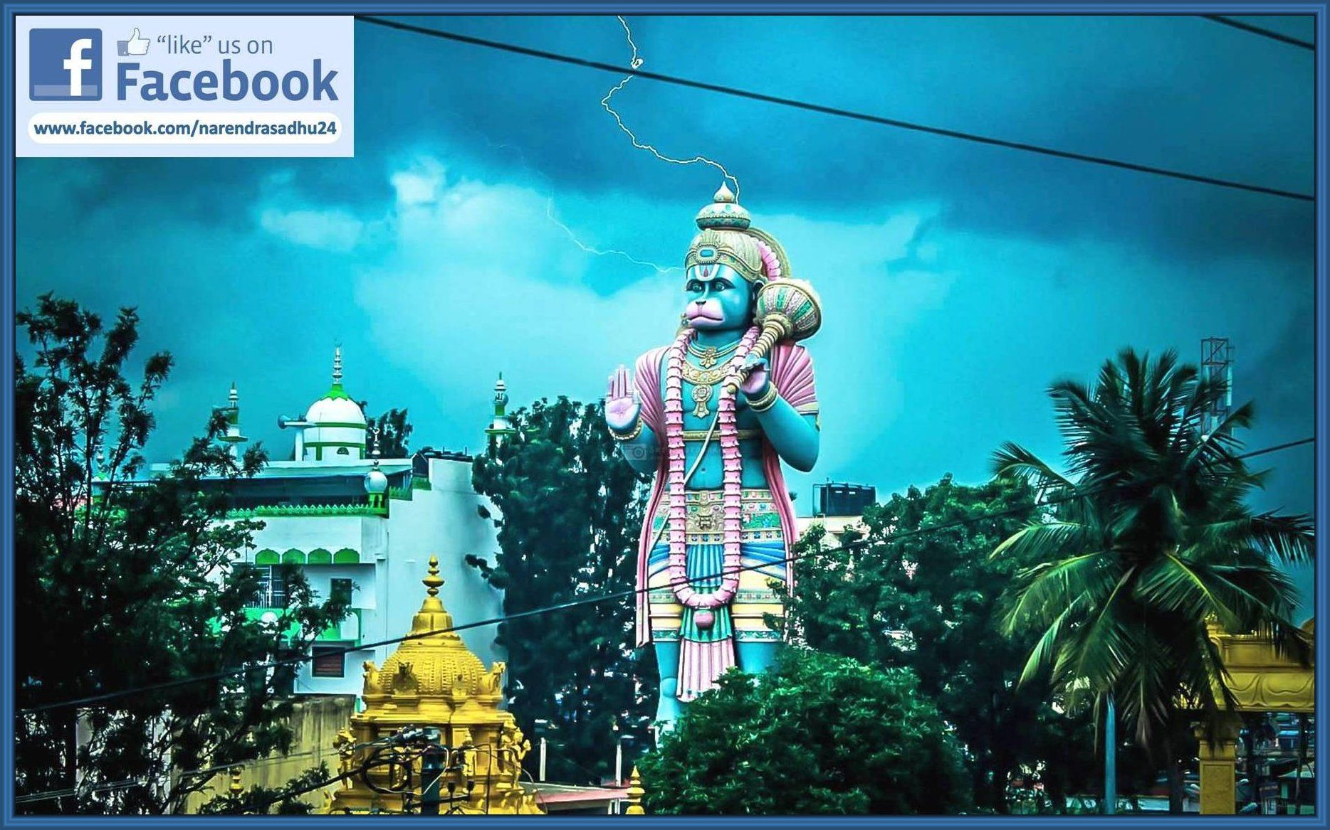 102 Feet Height Sky Break Marvelous Abhaya Anjaneya Statue Is
