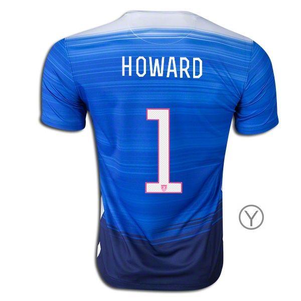 938747493 2015 Tim Howard Youth Away Jersey  1 USA Soccer