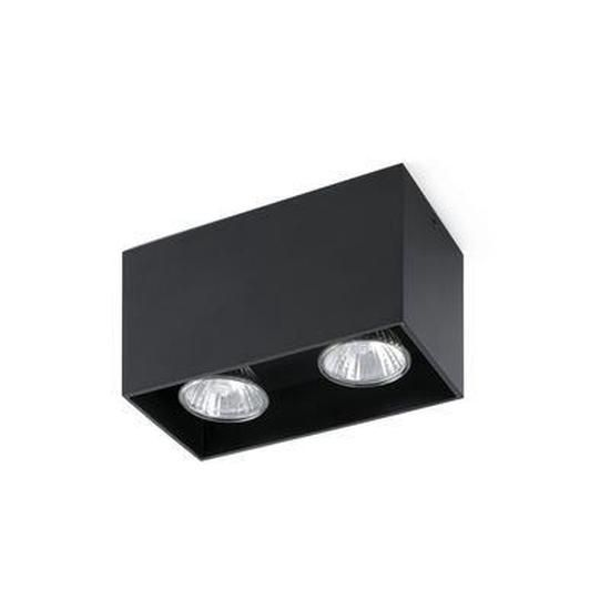Plafonnier Tecto 2 X Gu10 50w Noir Faro Plafonnier Luminaire Source Lumineuse