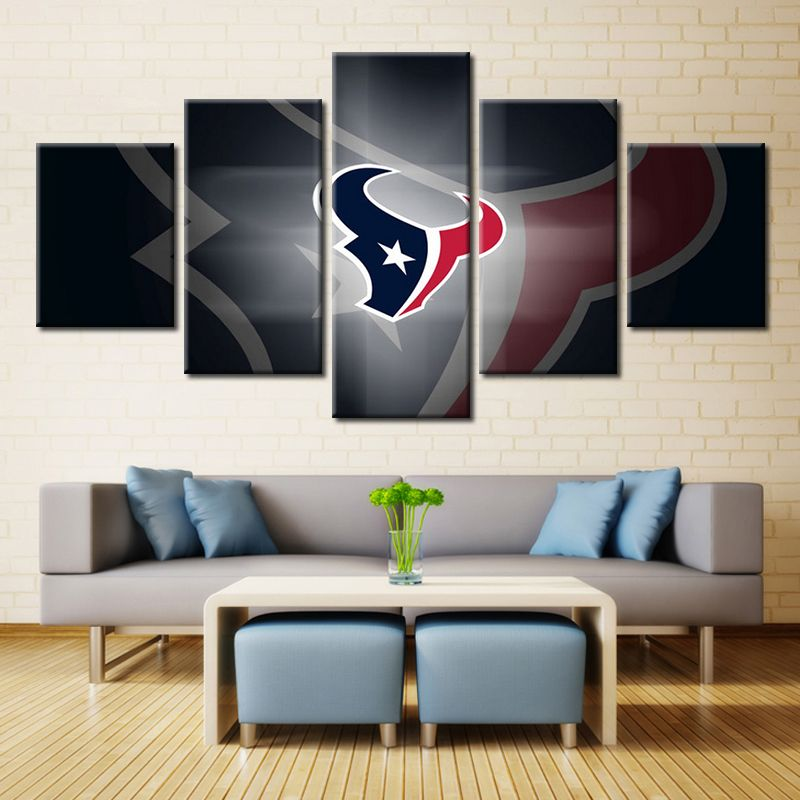 Forbeauty Houston Texans Logo No3 Landscape Painting Canvas Printing Modern Home Wall Decor Picture For Livingroom