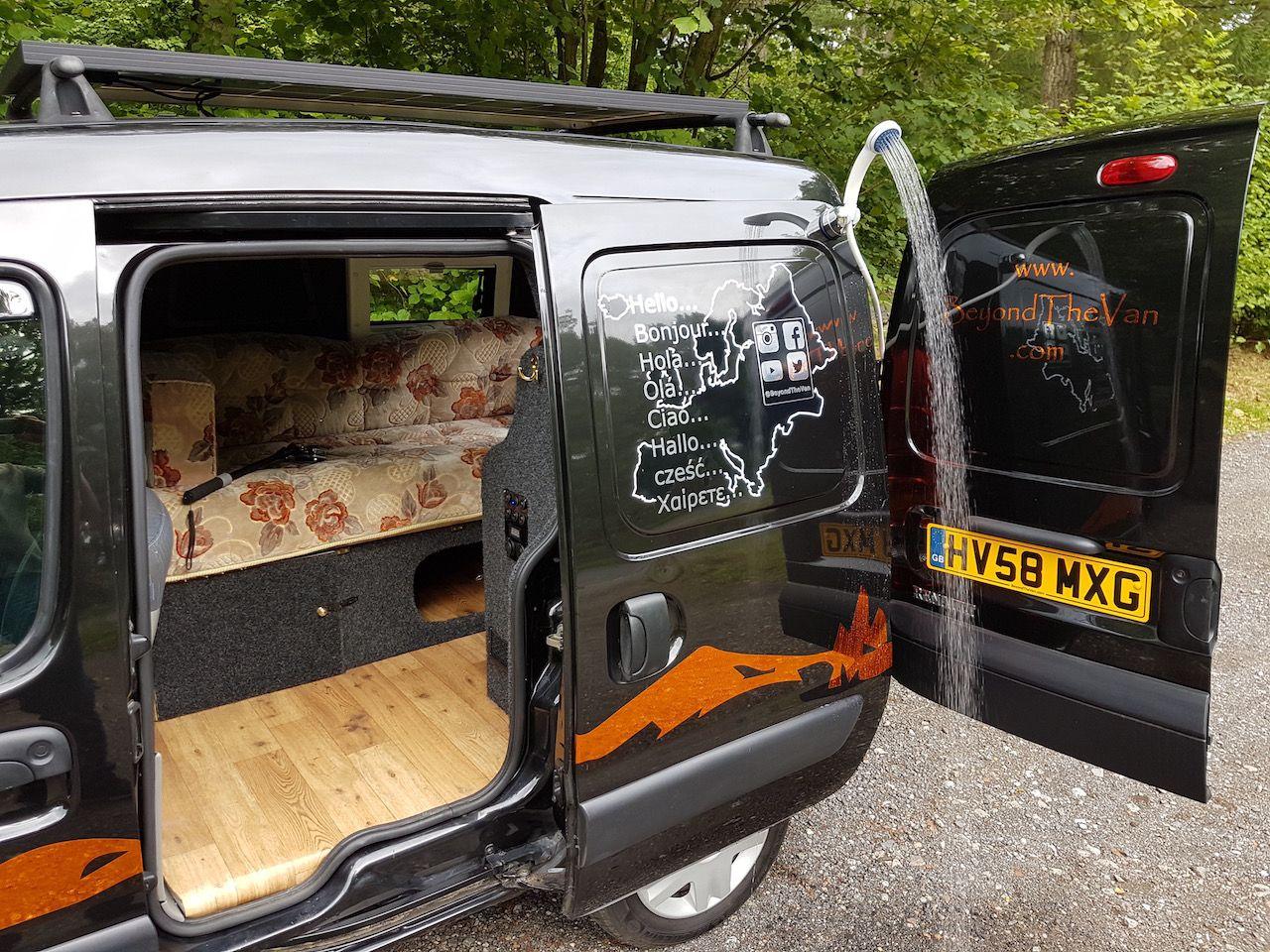 renault kangoo micro camper travel van self converted as. Black Bedroom Furniture Sets. Home Design Ideas