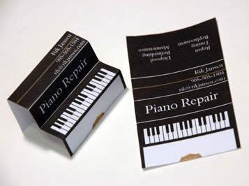 Piano Repair 100 Really Creative Business Cards