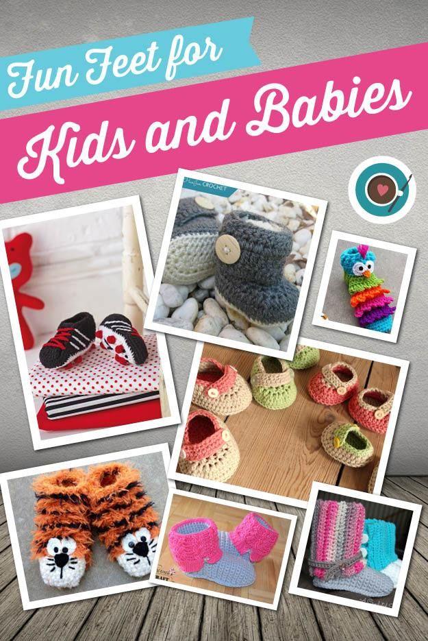b30bb5103d4b20 Fun Crochet Patterns for little feet at www.thecrochetcafe.com ...