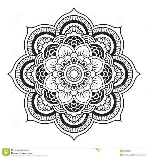 mandala patterns to print | Mandala-Abbildung. Rundes Verzierung ...