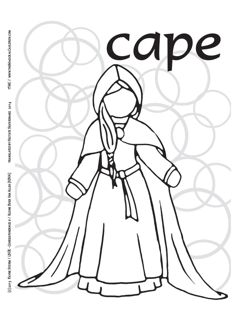 Luv 2 Lrn Printable Page Dutch Cape Please Like Share Comment Tag And Pin It Book Of Shadow Coloring For Kids Coloring Pages