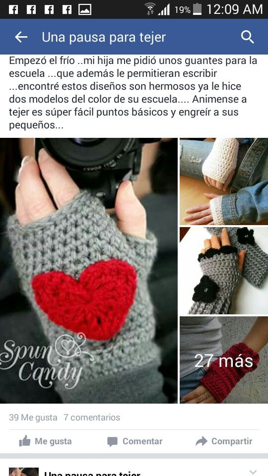 Guantes sin dedos   pergolas   Pinterest   Guantes sin dedos ...