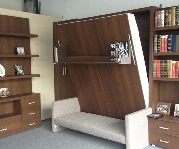 Space saving furniture folding wall bed murphy with also