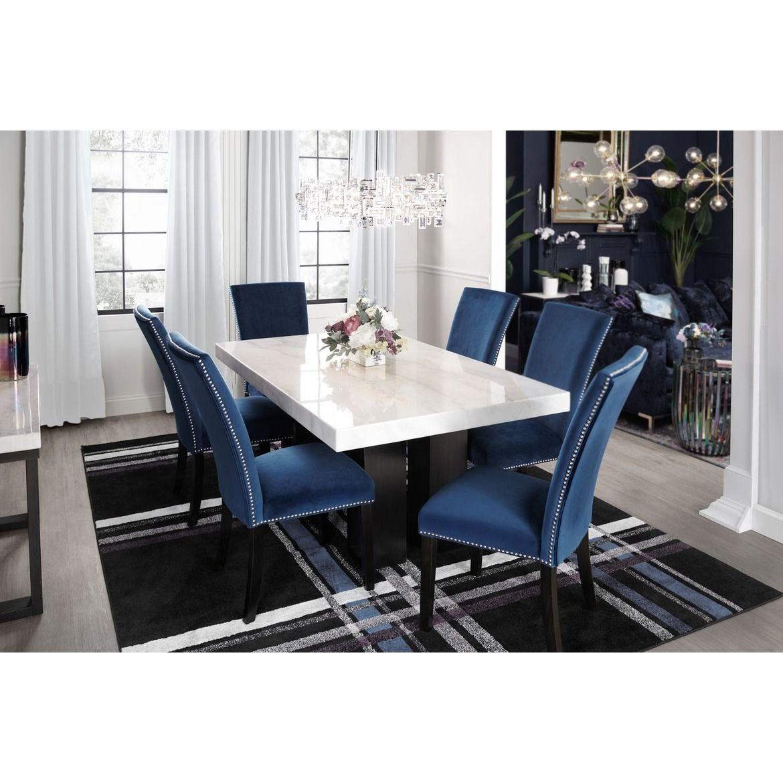 Artemis 7 Piece Dining Room American Signature Furniture Marble Dining Table Set Interior Design Dining Room Dining Table Marble