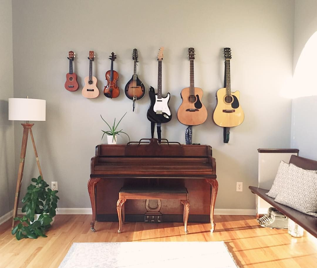 Hanging Instruments Music Room Wall Piano Room Decor Home Music Rooms