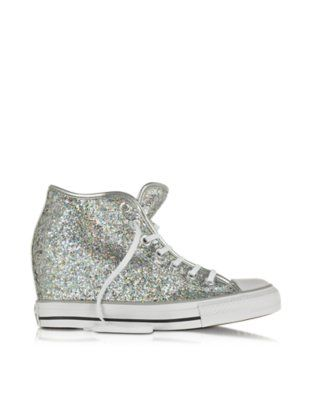 9918227e83bd Converse Limited Edition All Star Mid Lux Glitter Wedge Sneaker ...