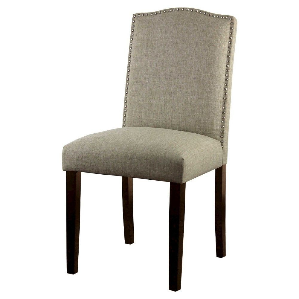 Camelot Nailhead Dining Chair Dove Gray - Threshold ...
