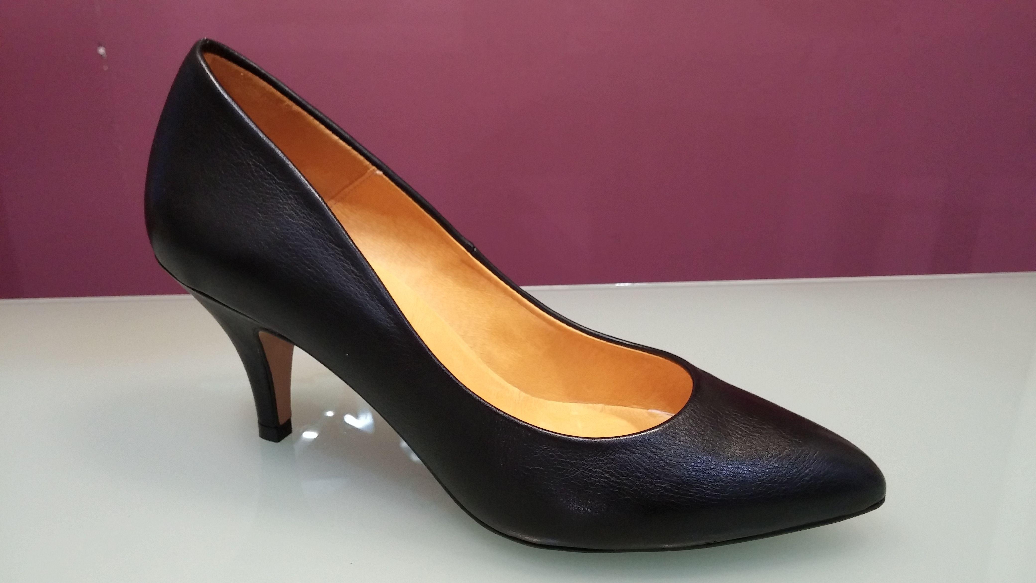 bajo De Colección Zapatos punta tacón Zapatos Salón con de negro fina Negros Tacon pSxPEq