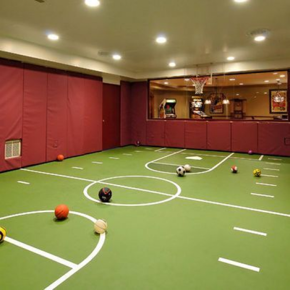 Photo of Kind of like the idea of padded walls in a play area… #recreationalroom #offic…