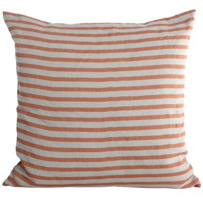 Stripe tyynynpäällinen 50x50, ruoste/harmaa