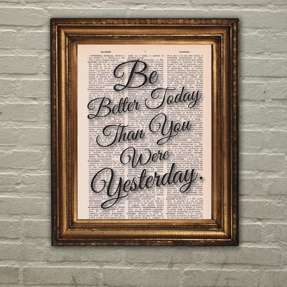 Dictionary Print: Inspirational Success Quote Be by PrintsofRogues