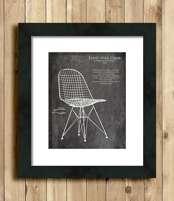Eames wire chair blueprint art print interior design gift gifts eames wire chair blueprint art print interior design gift gifts for her wife gift furniture blueprint midcentury modern christmas gift malvernweather Images