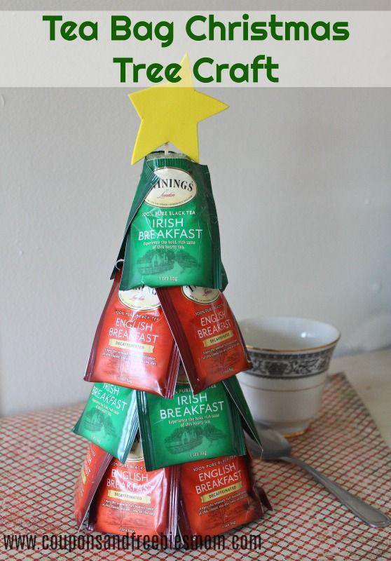 Tea Bag Christmas Tree DIY Craft - Simple homemade Christmas gift