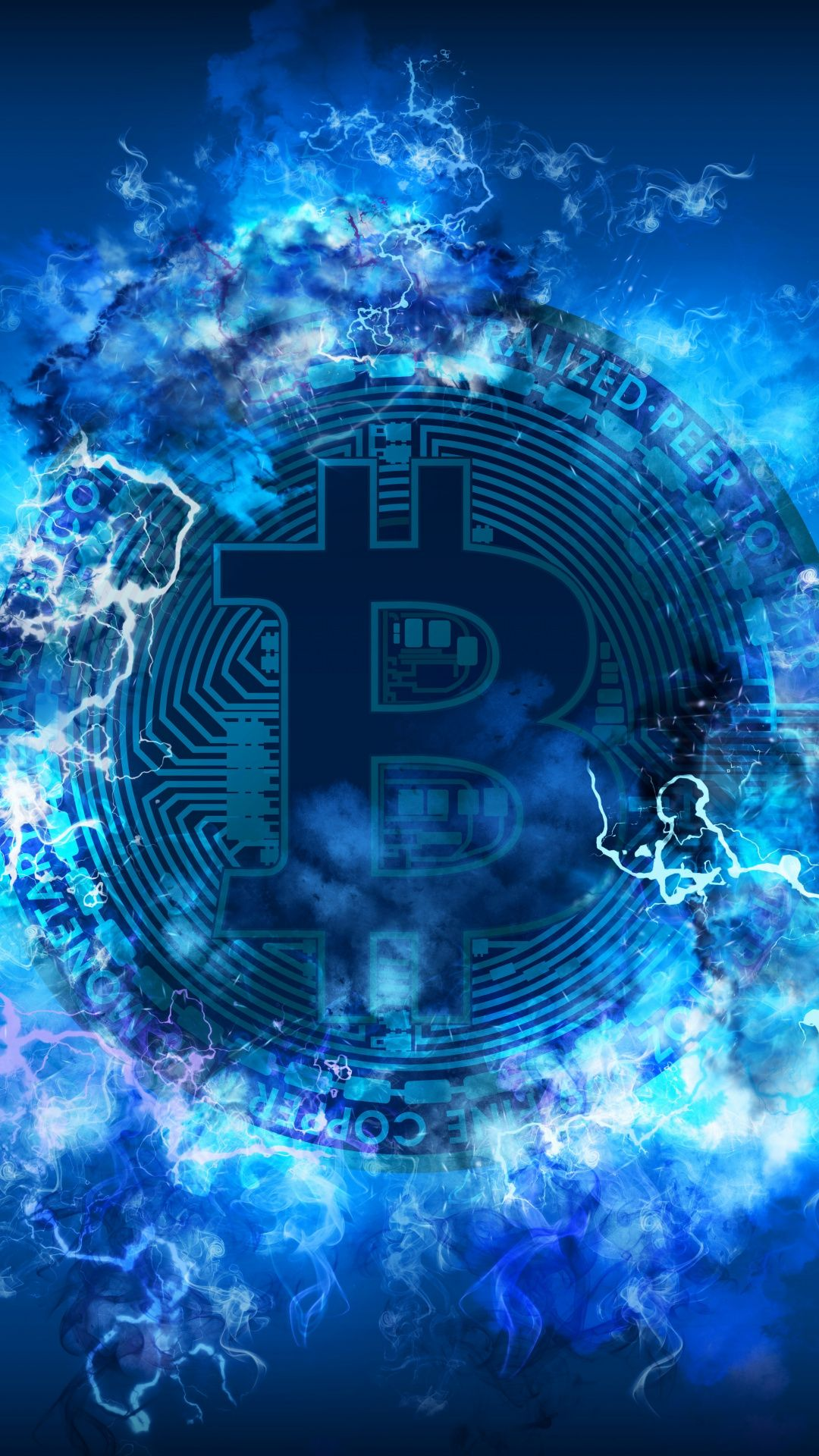 Bitcoin Abstract Crypt Currency Digital Art 1080x1920