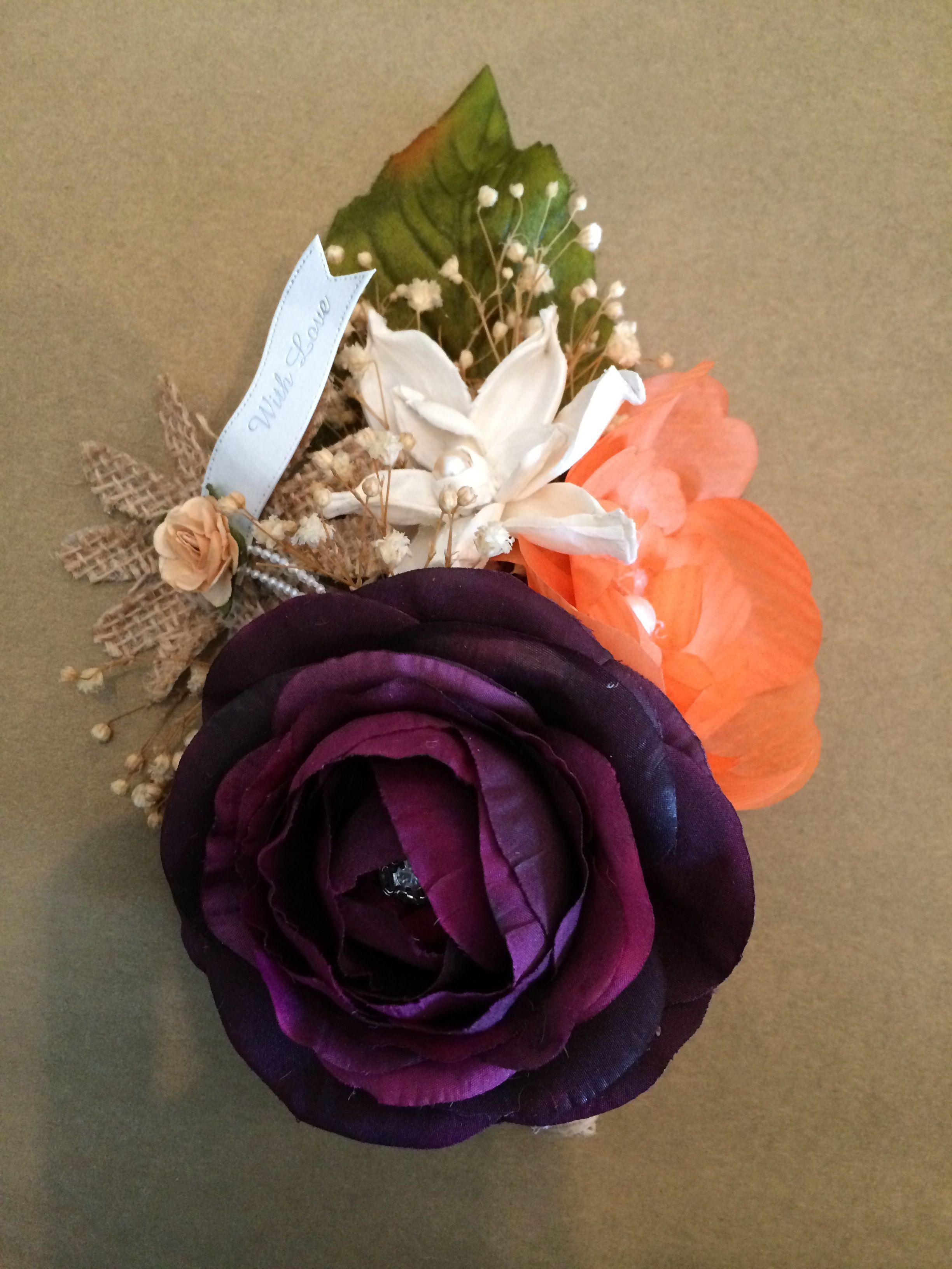 Paper Flower And Silk Flower Corsage Richard Pinterest