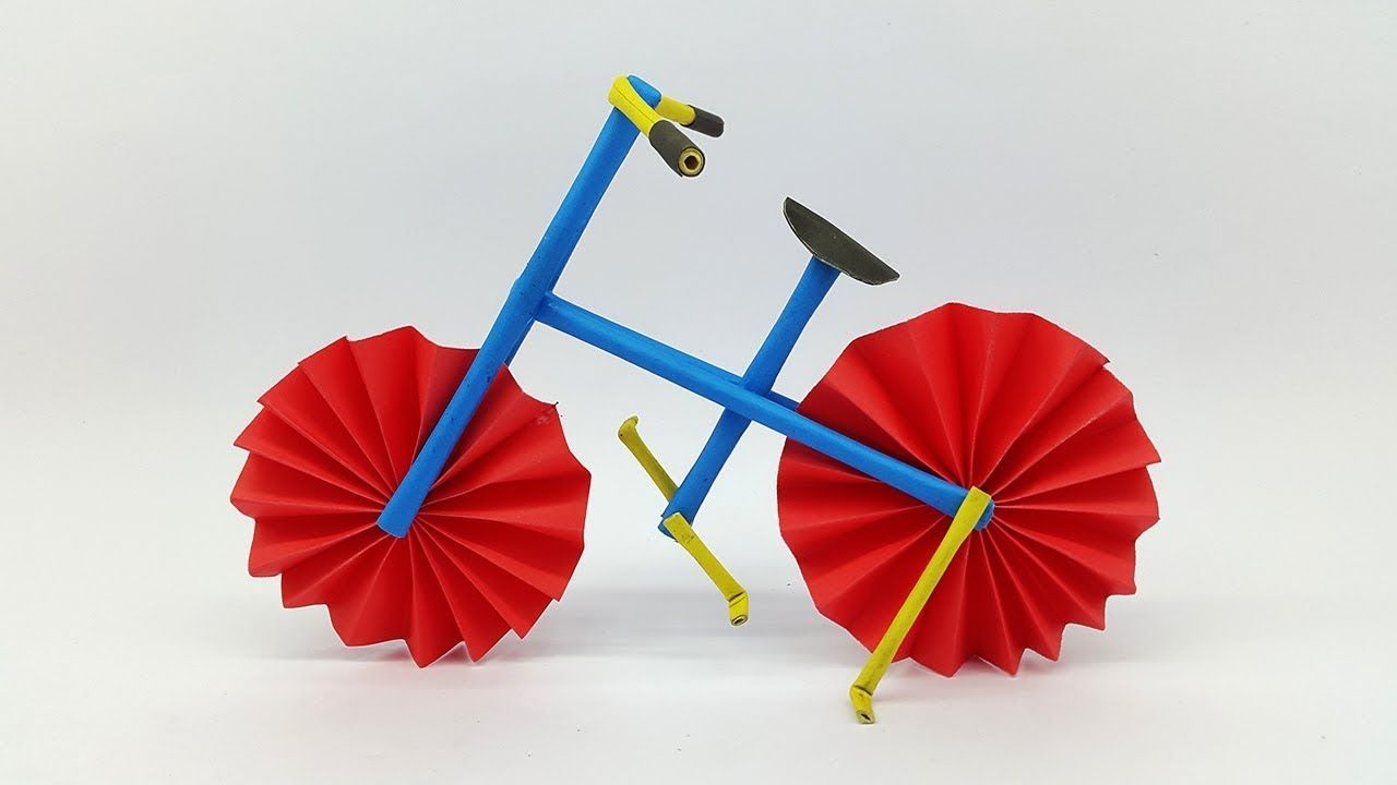 How To Make A Bicycle Using Colors Paper Diy Paper Cycle And