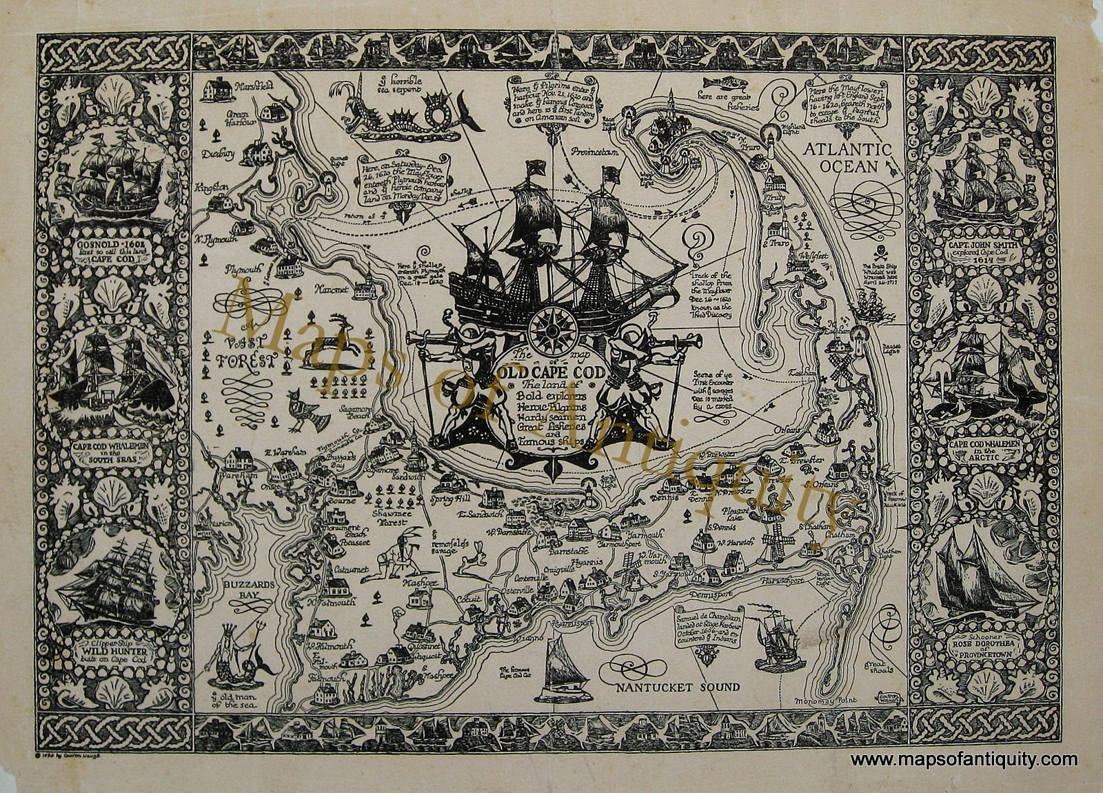Antique Maps and Charts – Original, Vintage, Rare Historical Antique ...