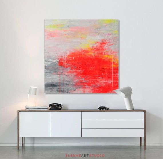 blue large abstract art minimalist paintings on canvas on modern acrylic paintings for living room id=60331