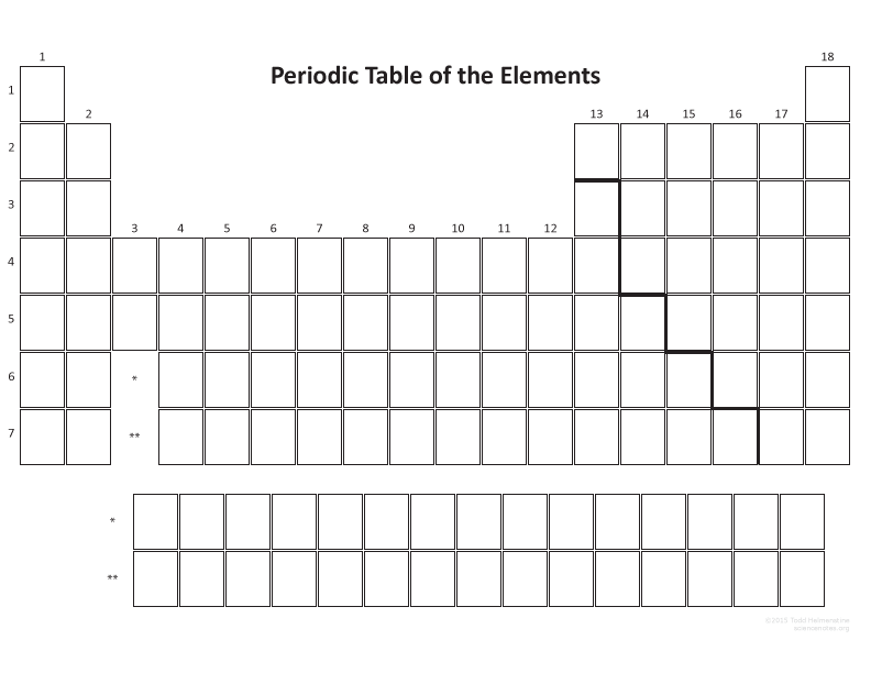 This Blank Periodic Table Pdf Is Optimized For A  Sheet Of