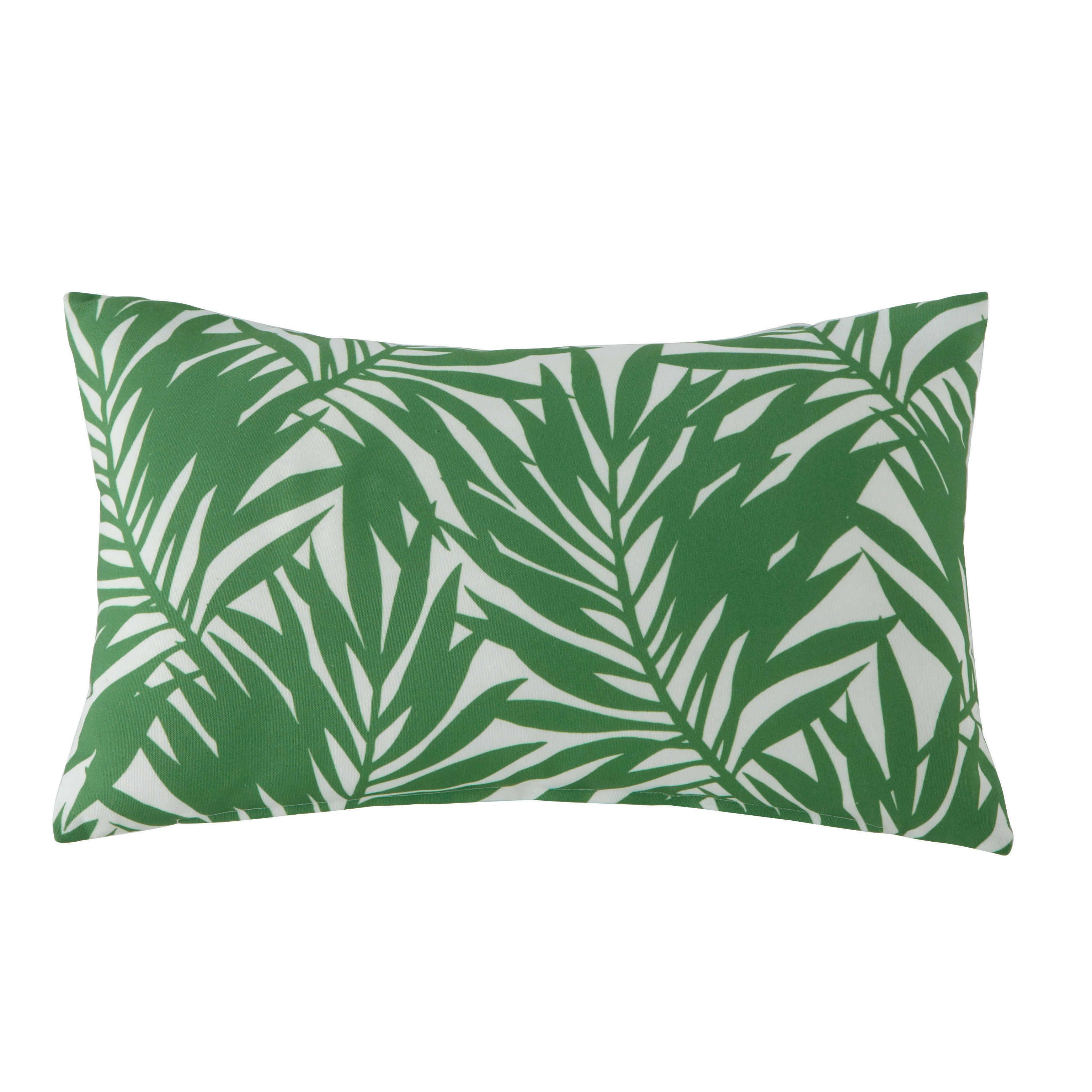 Outdoor Kissen Caryota Mit Pflanzenmotiv Bedruckt 30 X 50 Cm