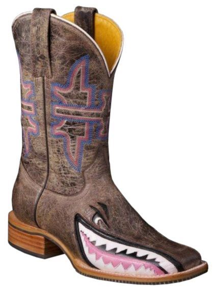 Tin Haul Man Eater Shark Cowgirl Boots - Square Toe. You have to ...