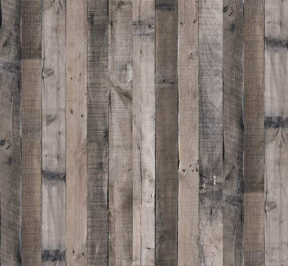 Faux Gray Wood Plank Wallpaper 17 7in X 78 7in Wood Removable Peel And Stick Wallpaper Self Adhes Wood Plank Wallpaper Wood Wallpaper Peel And Stick Wallpaper