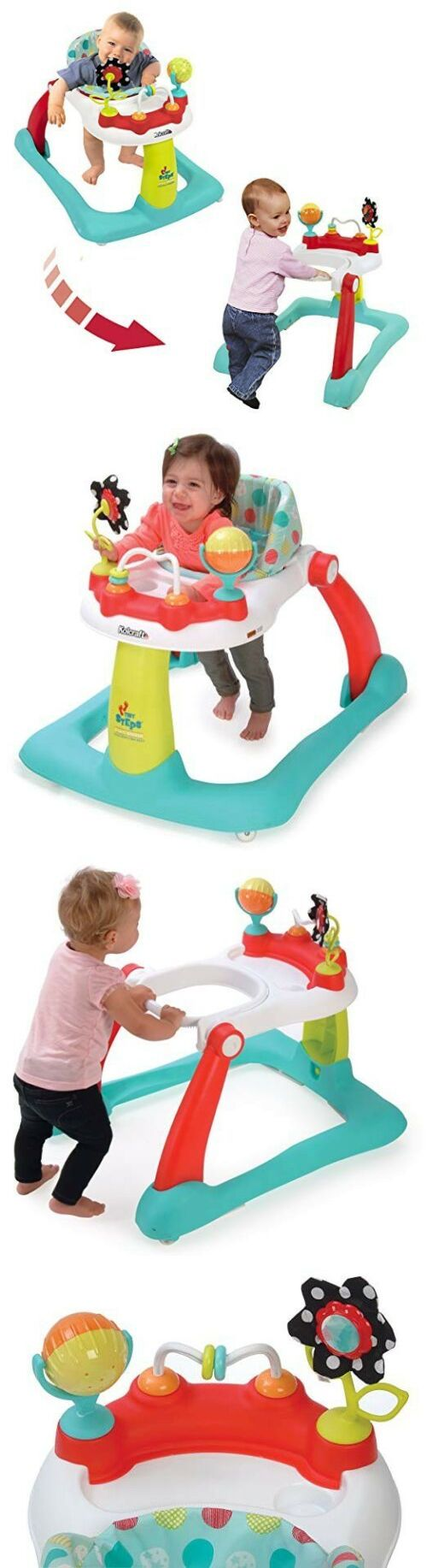 33070ba47 Walkers 134282  Kolcraft Tiny Steps 2 In 1 Baby Activity Walker ...