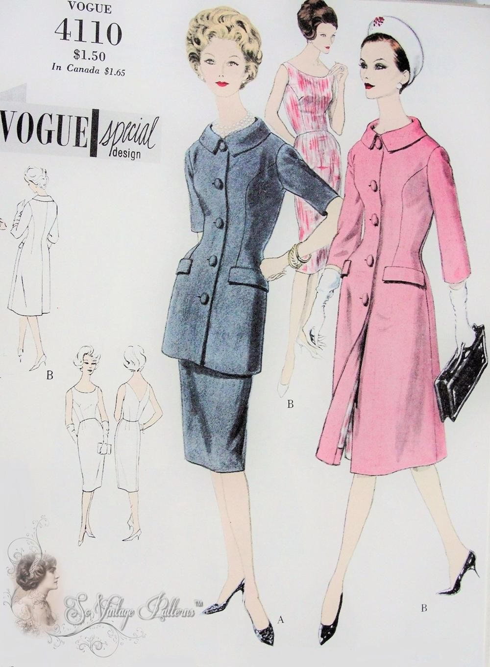 Vogue pinterest vintage sewing patterns vintage and retro