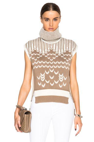Chunky Knit Sleeveless Turtleneck