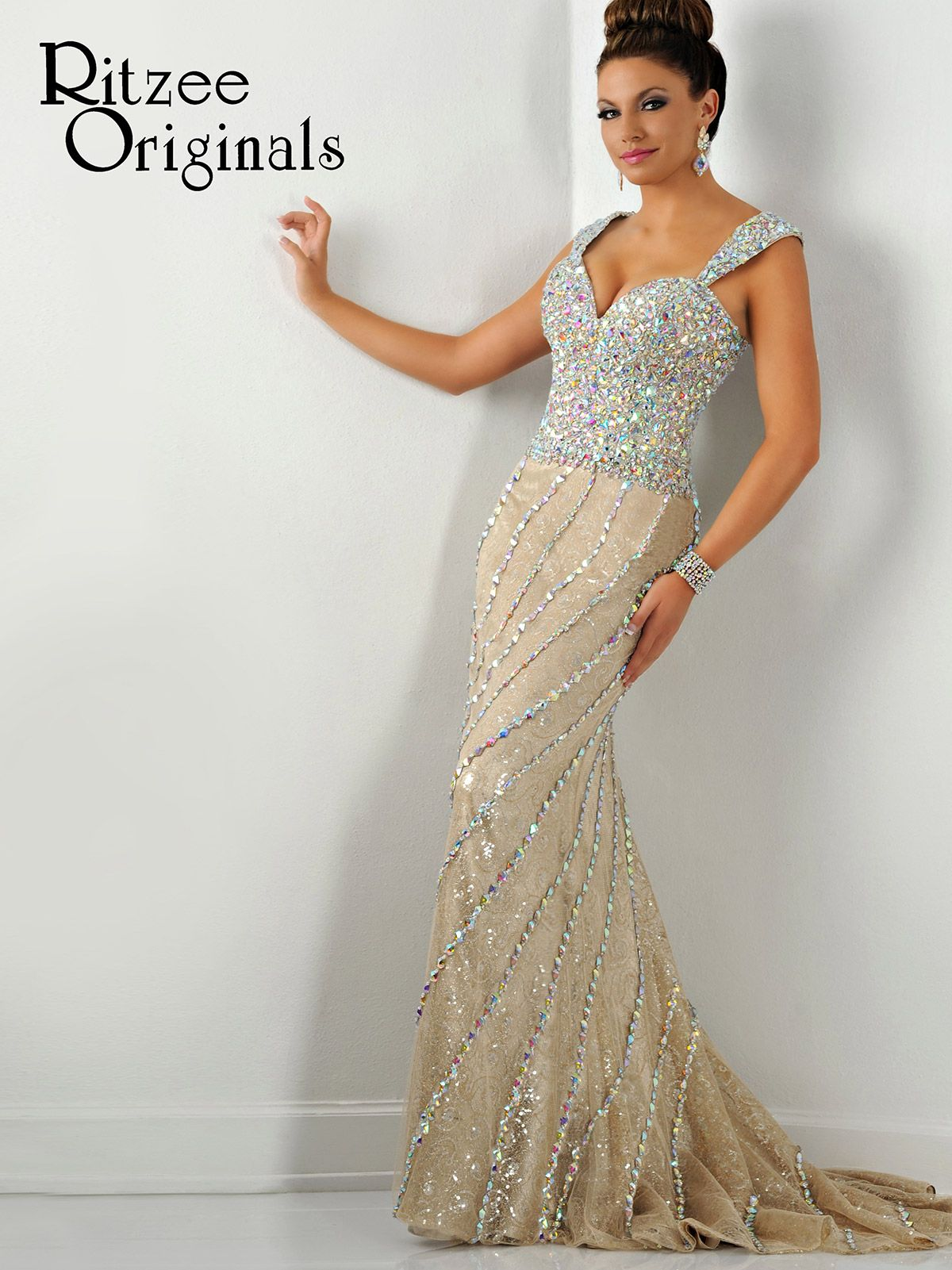 A stunner, this dazzling Ritzee Originals pageant dress is a ...