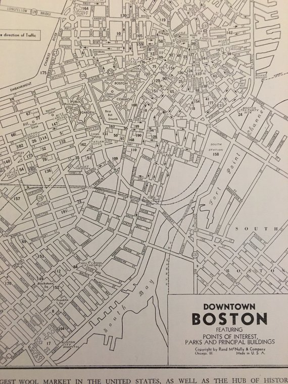 Antique Boston Map.Boston Map Print Antique Map Of Boston Massachusetts Vintage Map