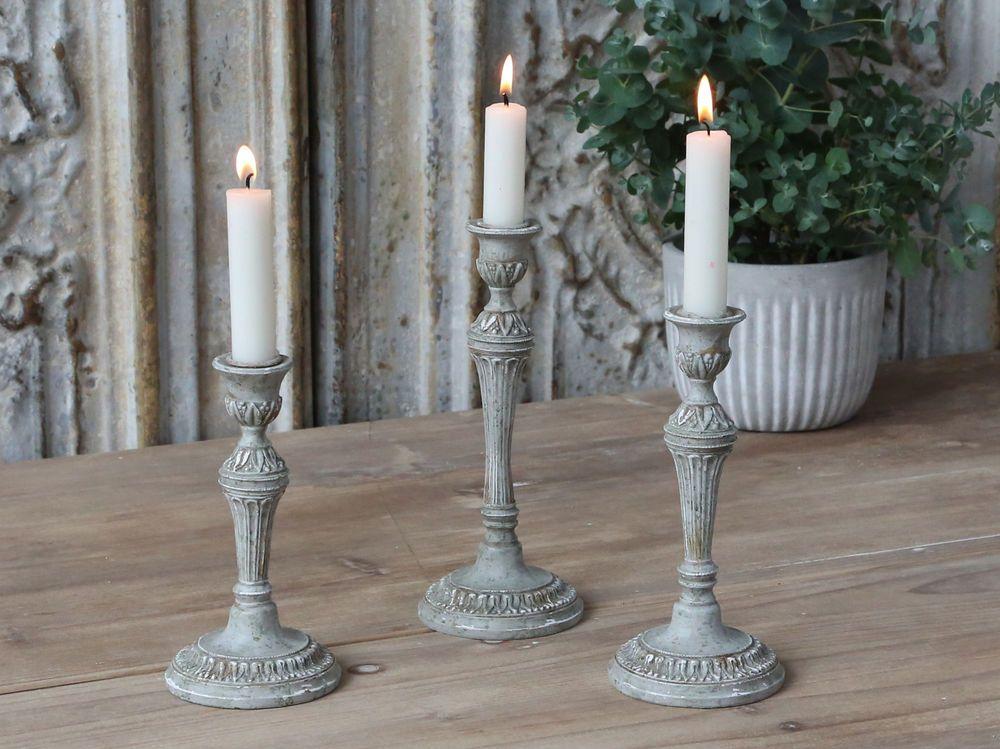 Chic Antique Kerzenständer 22cm Kerzenhalter verte Leuchter vintage und shabby